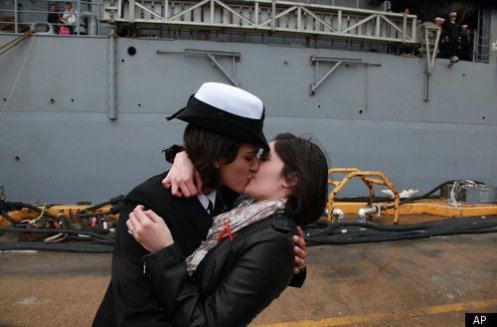 Gay Navy Kiss